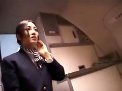 Stewardess, Japanese stewardess giving a handjob, Gotporn.com