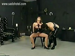 Latex, Slave, Tied, Milf gagged and tied up on the chair, Gotporn.com