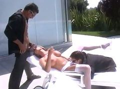 Pool, Threesome, Nude pool natural redhead, Gotporn.com