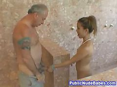 Asian, Blowjob, Public, Japanese old man, Gotporn.com