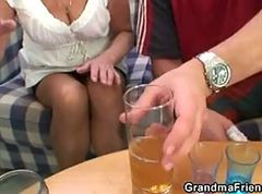 Granny, Party, Threesome, Ass threesome, Xhamster.com