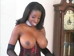 Ebony, Black, Whore, Kitchen stockings, Drtuber.com