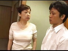 Asian, Japanese, Mom, Mom gets banged by son and friends, Xhamster.com