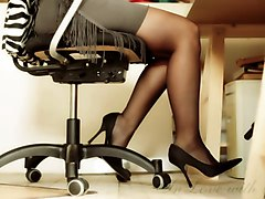 Office, Heels, Asian high heels, Xhamster.com