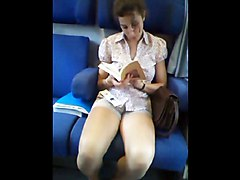 Teen, Train, Milking in a train, Xhamster.com