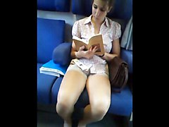 Teen, Train, Flashing train, Xhamster.com