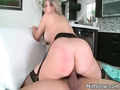 Blonde, Milf, Big Tits, Hot german milf fucked in living room, Drtuber.com