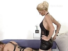 Blonde, German, Slave, German mistress siting on human chair, Xhamster.com