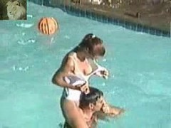 Pool, Voyeur, Wet boobs fucking in pool, Xhamster.com