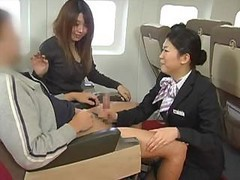 Asian, Handjob, Japanese, Stewardess hand jobs, Drtuber.com