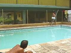 Pool, Sex on a pool lilo, Xhamster.com